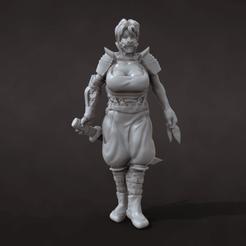 Lioness Mask.png Download STL file Rogue Lioness miniature • 3D print design, azorean3d