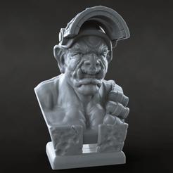 Download free 3D printing templates Riot Orc, azorean3d