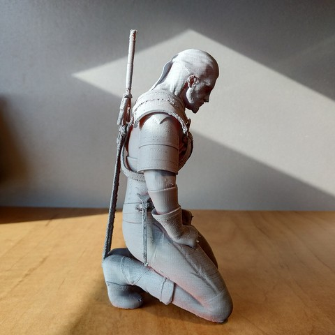 Download free 3D printer designs Geralt meditating, azorean3d