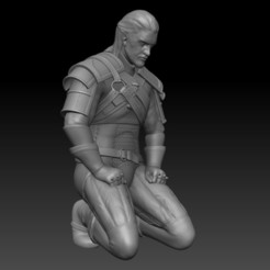 Descargar modelo 3D gratis Geralt Meditating Remix, azorean3d
