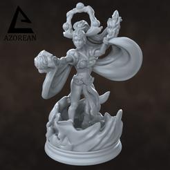 Gaia Prophetess.png Download STL file Gaia Prophetess Miniatures • 3D print model, azorean3d