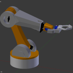 Free STL file Robotic arm suitable for servos sg995, Nikgourg
