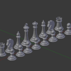 Download free 3D printing files Chess set, Nikgourg