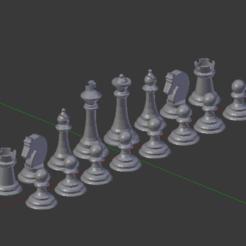 Imprimir en 3D gratis Juego de ajedrez, Nikgourg