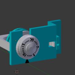 Impresiones 3D gratis Caja fuerte con código de tres dígitos, Nikgourg