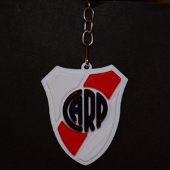 River.jpg Download STL file Keychain River PLate Athletic Club • Template to 3D print, cintucores