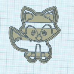 cortante zorro.png Download GCODE file Little Prince's Fox cookie cutter • 3D printer template, cintucores