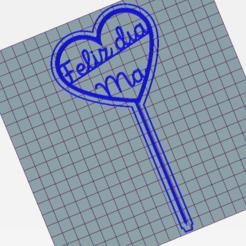 Topper dia de la madre.png Télécharger fichier GCODE Fête des mères • Plan imprimable en 3D, cintucores