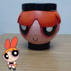 Descargar archivo STL Mate Bombon Chicas Super Poderosas • Objeto imprimible en 3D, germanpereznieva