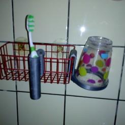 IMG_20201126_162050.jpg Download STL file Cup holder + toothbrush holder • Design to 3D print, Systeme_D