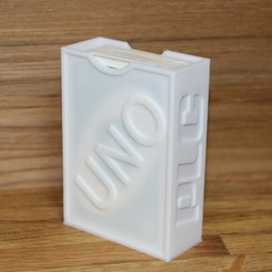 Impresiones 3D gratis Caja de juego de cartas UNO, PLC