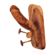 Descargar archivo STL Pene de polla como soporte de pared con gancho, soporte de pared adicional con toalla suspendida, porta-joyas 3d-print cnc. • Objeto imprimible en 3D, Dzusto
