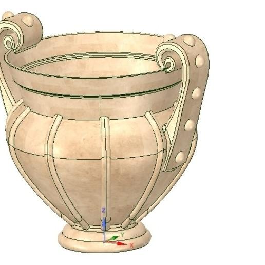 Download 3D printer files amphora greek cup vessel vase v05 for 3d print and cnc, Dzusto
