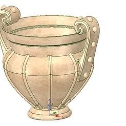 Download 3D printer files amphora greek cup vessel vase v05 for 3d print and cnc, Dzusto