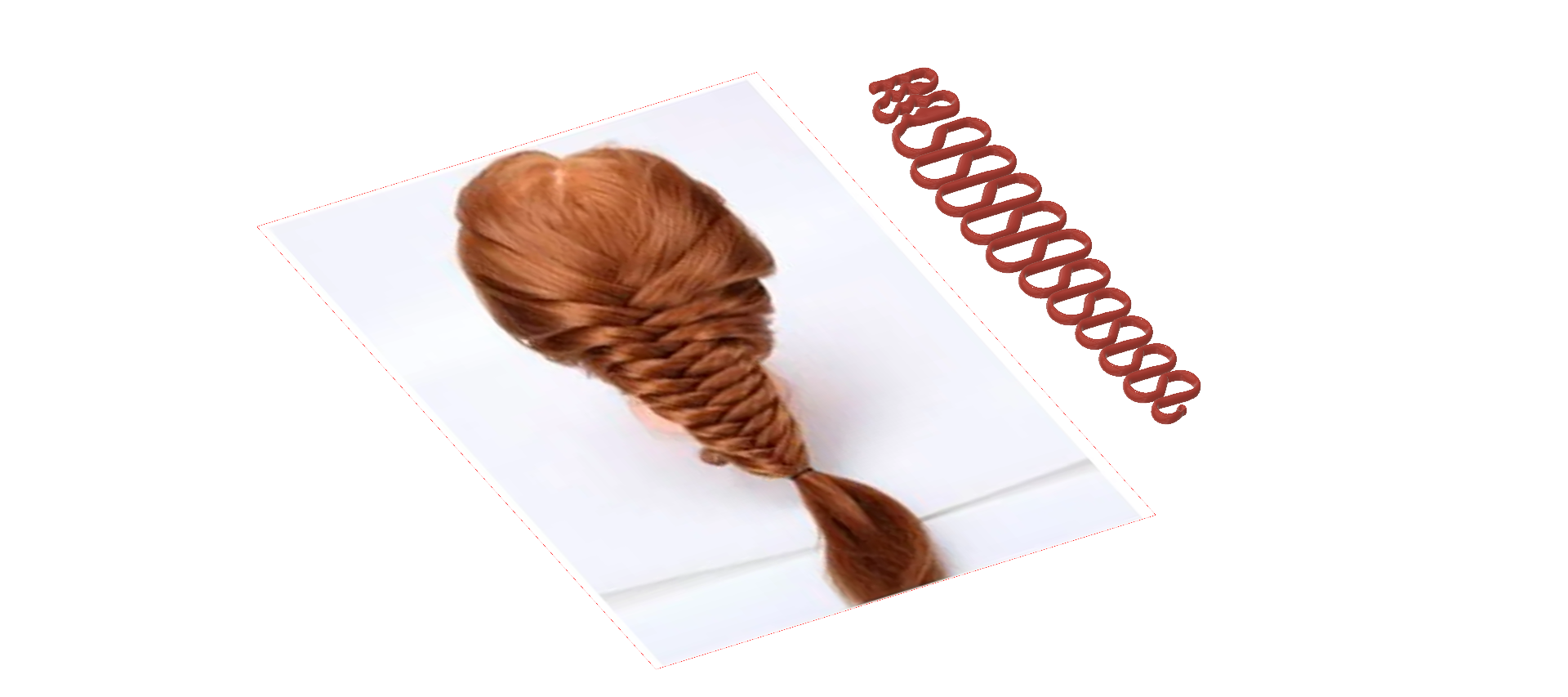 Female braid hair 03 v32-02.png Download STL file hair braid hair styling roller hair accessories for girl headdress female weaving tool fbh-03 3d print cnc • 3D printing object, Dzusto