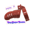 Download 3D printer files Male Chastity Device Cock Cage Penis Ring  Virginity Lock Chastity Belt Adult Game Sex Toy locker v54 folding ring 3d print and cnc, Dzusto