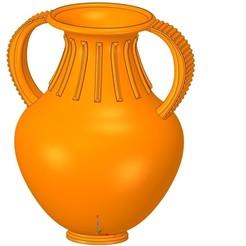 Download 3D printer designs amphora greek cup vessel vase v37 for 3d print and cnc, Dzusto