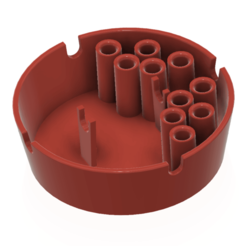 ashtray-01 v4 - 01.png Download STL file Cigarette Smoking Cups Ashtray Tobacco Holder with 8pcs cigarette storage hole 3d-print and cnc • Object to 3D print, Dzusto