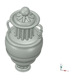 Download STL amphora cup vessel for dust, Dzusto