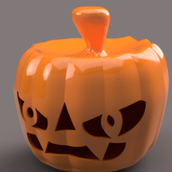 Impresiones 3D real halloween pumpkin v11 candlestick magic ritual for 3d-print or cnc, Dzusto