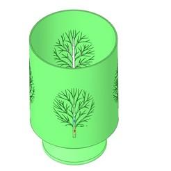 Download 3D printer designs nature style vase cup vessel v52 for 3d-print or cnc, Dzusto