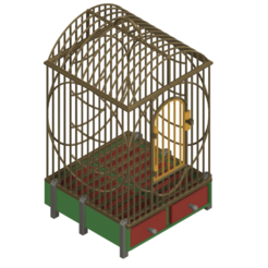 Download 3D printing designs House Style Economy bird cage for finches, canaries, parakeets and other small birds 3d print cnc, Dzusto