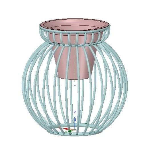 Télécharger STL vase à fleurs vase tasse de jardin pour 3d-impression ou cnc, Dzusto