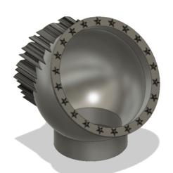 Descargar modelo 3D jarrón de bastón de caramelo vaso de vaso v48 para 3d-print o cnc, Dzusto