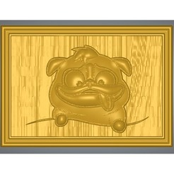 "dog-04-00.jpg Download STL file bas-relief real 3D Relief For CNC building decor wall-mount for decoration ""dog-house-04"" and 3d print • 3D printer object, Dzusto"
