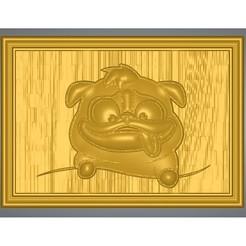 """dog-04-00.jpg Télécharger fichier STL bas-relief réel 3D Relief Pour CNC bâtiment décor mural pour décoration """"dog-house-04"""" et impression 3d • Objet pour impression 3D, Dzusto"""