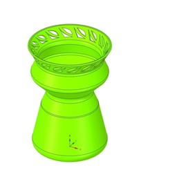 Descargar modelo 3D recipiente de vaso de estilo v47 para 3d-print o cnc, Dzusto