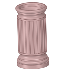 Download 3D printer designs vase from a historical fragment of a column for 3d-print or cnc, Dzusto