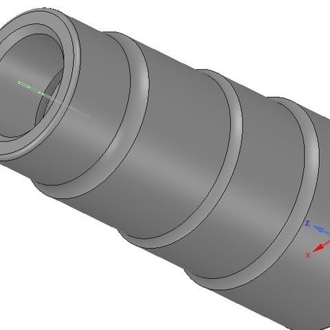 Descargar STL adaptador universal escalonado para boquilla de aspirador v01 3d-print cnc, Dzusto