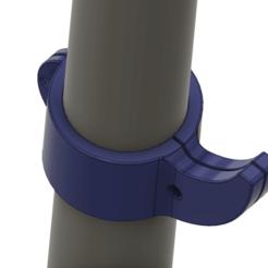 bike-hook-d32-01 v6-03.png Télécharger fichier STL Crochet de fixation de guidon Crochet de suspension de sac à dos Griffe de bicyclette Scooter Electroscooter Vélo Support de guidon bh-d32 3d-print cnc • Modèle pour imprimante 3D, Dzusto