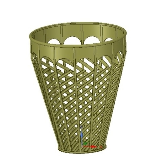 site officiel en ligne ici tout neuf basket vase wallet for paper or flower v07 for 3d-print or cnc