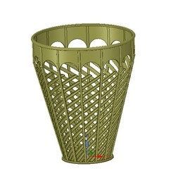 Download STL basket vase wallet for paper or flower v07 for 3d-print or cnc, Dzusto