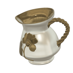coffee-tea-pot-vase-79 v11-02.png Download STL file stylish coffee milk tea cream pot vase cup vessel watering can for flowers ctp-79B for 3d-print or cnc • Template to 3D print, Dzusto