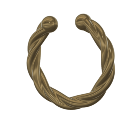 fem_jewel_36 v2-01.png Download STL file fake nose hook FAKE NIPPLE PIERCING Female male Non-Piercing Body Jewellery Bondage Weight femJ-36 3d print cnc • 3D print model, Dzusto