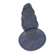 Download STL file organical female male anal plug butt Anus Expander v111 flex or silicone 3d print cnc • 3D print design, Dzusto