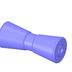 Télécharger fichier STL Rouleau de quille de remorque de bateau de 8 pouces 3,25 pouces de diamètre extérieur v01, Dzusto