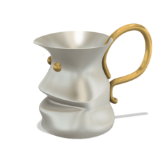 Download STL files professional  vase cup milkpot jug vessel v14 for 3d print and cnc, Dzusto