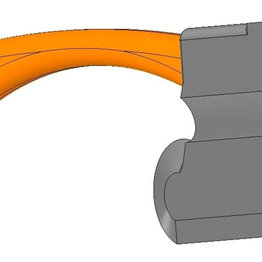 model of battle axe gun for 3D print and cnc