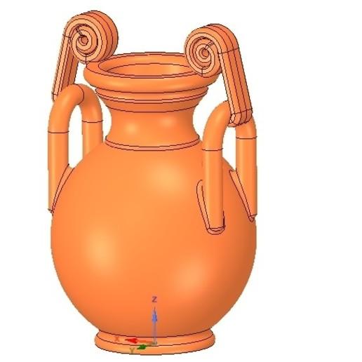 Download 3D printer model Greek vase amphora cup vessel for 3d-print or cnc, Dzusto