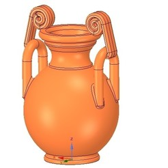 Download 3D printer model Greek vase amphora cup vessel for 3d-print or cnc, Dzusto