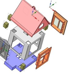 Download 3D printing files development game type and build your house 3d, Dzusto