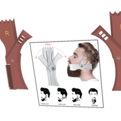 stencil template for beard - 03 v17-04.png Download STL file Adjustable Rotating Men Beard Shape Styling Template Comb All-In-One Beard Stencil sc-03 3d print cnc • 3D printer template, Dzusto