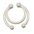 Download STL files fake nose hook FAKE NIPPLE PIERCING Female Septum Barbaella male Non-Piercing Body Jewellery Bondage Weight femJ-40 3d print cnc, Dzusto