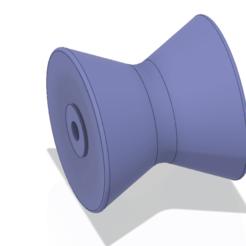 Télécharger objet 3D BATEAU MARINE TRAILER 4 pouces ROLLER STOP pour impression 3d et cnc, Dzusto