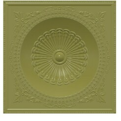 Decor-ceiling-24 v16-00.jpg Download STL file Square Ceiling Dome Bas-relief original real 3D Relief Round Rope Rosette For CNC building decor ceiling or wall mounting for decoration cd-24 3d print  • 3D printer design, Dzusto