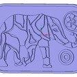 Télécharger fichier impression 3D support de plateaux pour assiettes et articles chauds elefant 212 3d-print et cnc, Dzusto